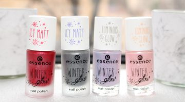 Swatches: Essence Winter Glow Nail Polishes