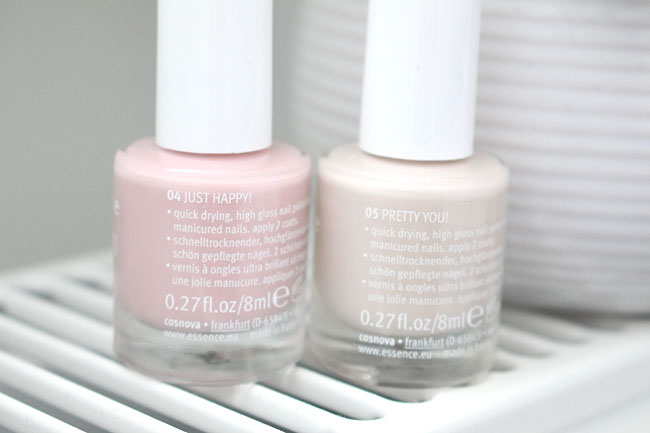 Essence nagellakken Just happy! en Pretty you! 3