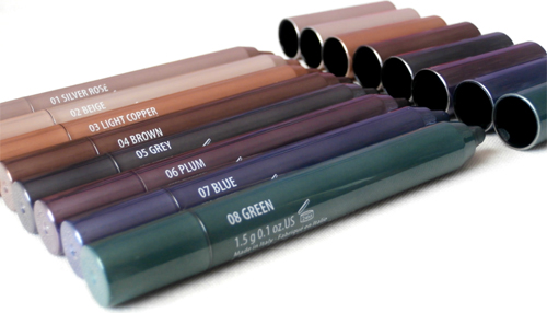 Gosh Forever Metallic Eyeshadow sticks 2