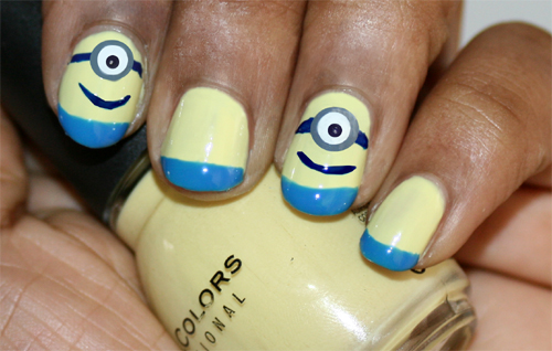 Minions nail art 1
